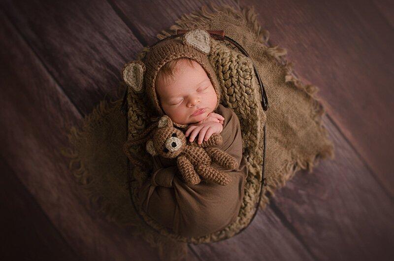 sesja fotograficzna noworodka w domu niezapominajka-art